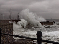 Stormy Penzance Harbour