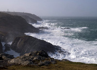 storm at Pendeen, West Penwith, Cornwall